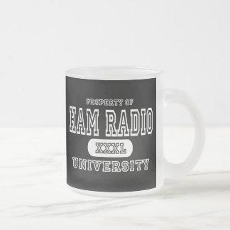 Oscuridad de la universidad del equipo de radio-af tazas