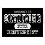 Oscuridad de la universidad del paracaidismo felicitaciones