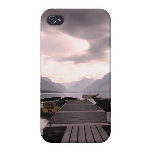 Oscuridad de Montana iPhone 4 Fundas