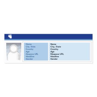 Oscuridad de Myspace - flaca Tarjetas De Visita Mini