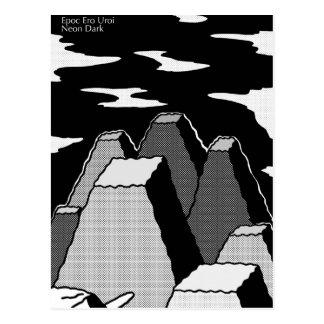 Oscuridad de neón de Cartolina Tarjeta Postal