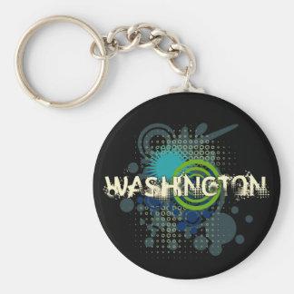 Oscuridad de semitono del llavero de Washington de