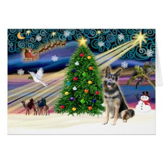 Oscuridad de Shep de la Magia-G de Navidad Tarjeta De Felicitación