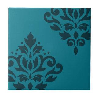 Oscuridad del arte I del damasco de la voluta en Azulejo Cuadrado Pequeño