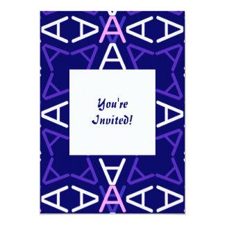 """Oscuridad del azul de AaParade Invitación 5"""" X 7"""""""