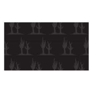 Oscuridad del cactus tarjetas de visita