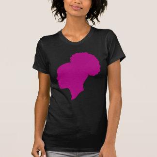 Oscuridad del camafeo de Fuscia Camiseta