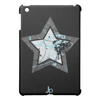 Oscuridad del caso del iPad de la estrella azul
