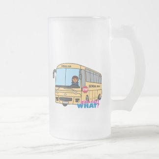 Oscuridad del conductor del autobús escolar taza de cristal