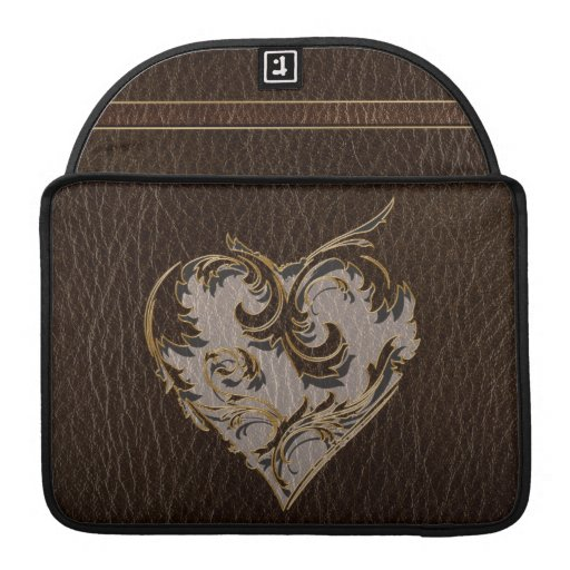 Oscuridad del corazón de la Cuero-Mirada Funda Macbook Pro