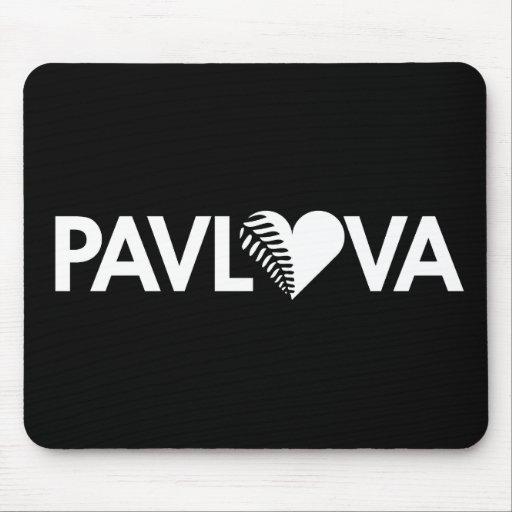 Oscuridad del corazón del helecho de Pavlova Tapete De Ratones