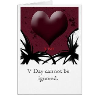 Oscuridad del día de San Valentín Tarjetón