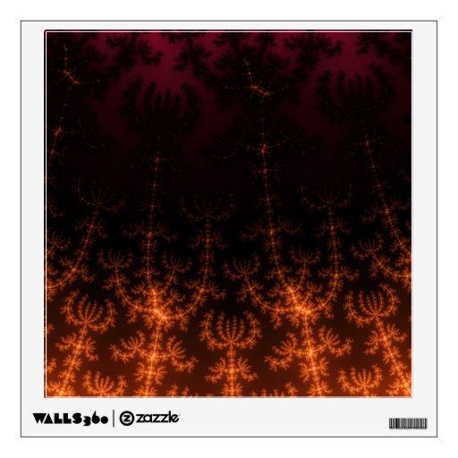 Oscuridad del fractal que brilla intensamente - or