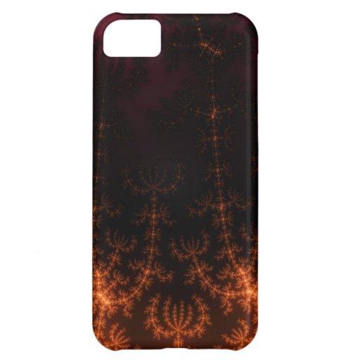 Oscuridad del fractal que brilla intensamente - or funda para iPhone 5C