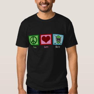Oscuridad del hockey del amor de la paz camisas