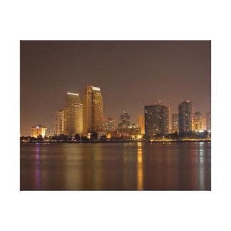 Oscuridad del horizonte de San Diego Lona Envuelta Para Galerias