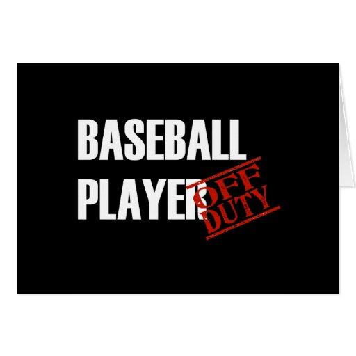 Oscuridad del jugador de béisbol tarjeta de felicitación