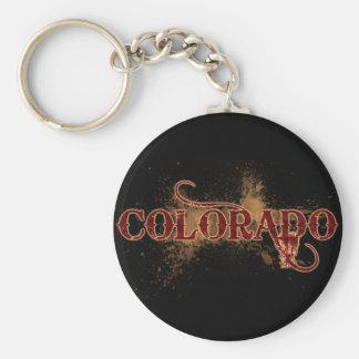 Oscuridad del llavero de Colorado del Grunge de la