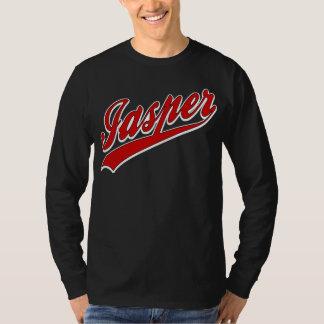 Oscuridad del logotipo del béisbol del jaspe playera
