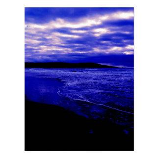 Oscuridad del océano postal
