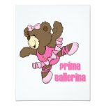 Oscuridad del oso de la bailarina de Prima Invitación 10,8 X 13,9 Cm