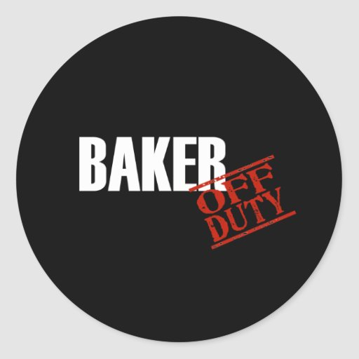 Oscuridad del panadero pegatina redonda