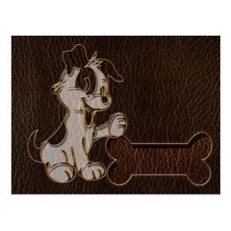 Oscuridad del perro de la Cuero-Mirada Postales