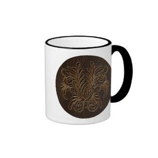 Oscuridad del ramo 1 de la Cuero-Mirada Taza De Café