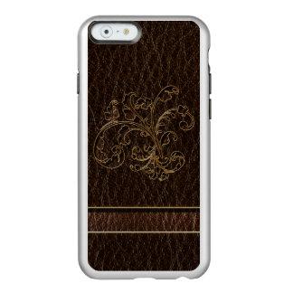 Oscuridad del ramo 2 de la Cuero-Mirada Funda Para iPhone 6 Plus Incipio Feather Shine