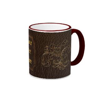 Oscuridad del ramo 2 de la Cuero-Mirada Tazas De Café