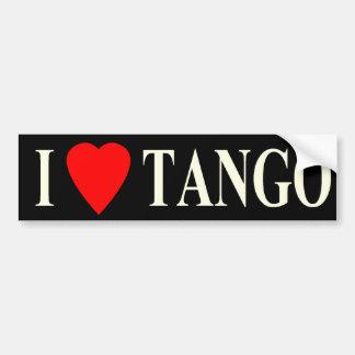 oscuridad del tango del corazón del parachoque i pegatina para auto