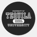 Oscuridad del Tequila Pegatina Redonda