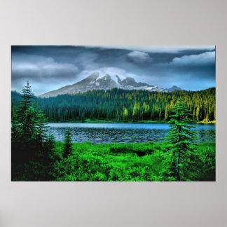 Oscuridad en el Monte Rainier Impresiones