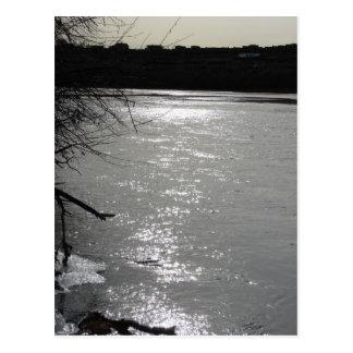 Oscuridad en el Rio Grande Tarjetas Postales