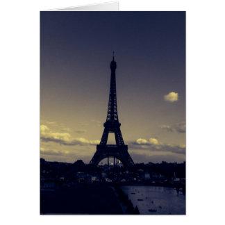 Oscuridad en la ciudad de luces tarjeta de felicitación