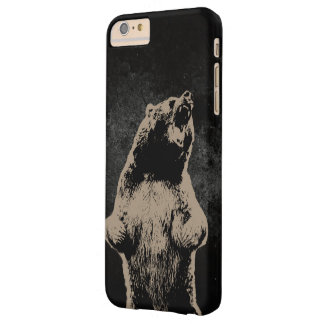 Oscuridad fresca del oso grizzly funda para iPhone 6 plus barely there