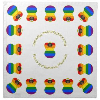 Oscuridad gay o africano de la bandera del arco servilleta de papel