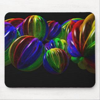 Oscuridad Mousepad de la bola del arco iris