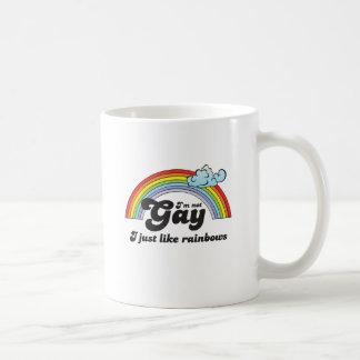 Oscuridad no gay Im Taza Básica Blanca