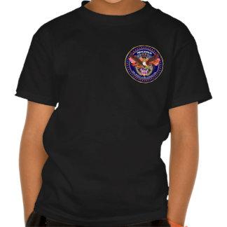 Oscuridad patriótica de la parte posterior del camisetas