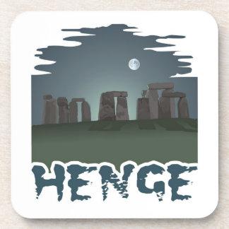 Oscuridad por claro de luna misterioso: Stonehenge Posavasos