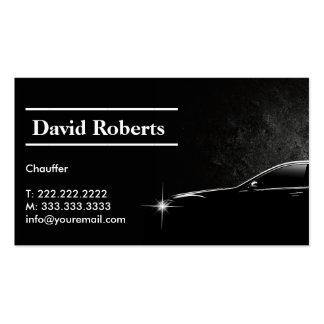 Oscuridad profesional del taxista del chófer tarjetas de visita