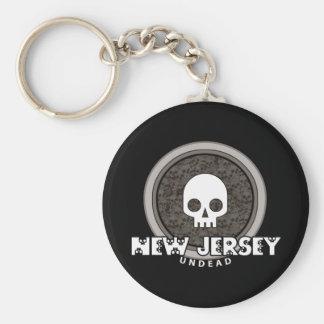 Oscuridad punky linda del llavero de New Jersey de