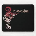 Oscuridad rizada rosada de la Florida Mousepad del Alfombrillas De Ratones