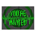 """Oscuridad verde sana """"usted es"""" invitación"""