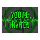 """Oscuridad verde sana """"usted es"""" invitación invitad"""