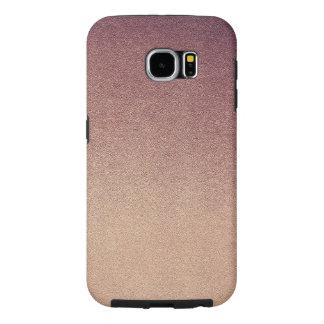 Oscuridad visual de la textura del oro de Ombre de Fundas Samsung Galaxy S6