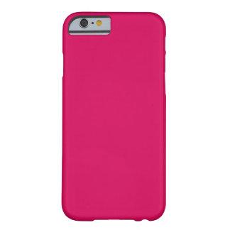 ~ OSCURO del ROSA COLOR DE ROSA (color sólido) Funda Para iPhone 6 Barely There