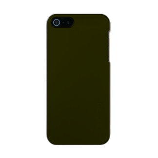 ~ OSCURO del VERDE VERDE OLIVA (color sólido) Carcasa De Iphone 5 Incipio Feather Shine