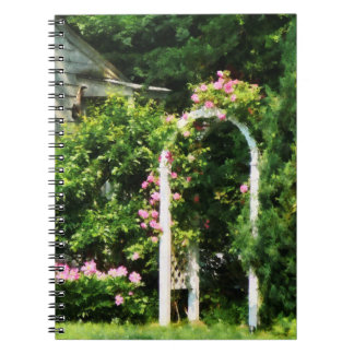 oses On Trellis Spiral Note Book
